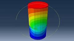 آموزش شبیهسازی رشد ترک سهبعدی در استوانه توپر به روش XFEM در نرم افزار ABAQUS
