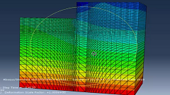 آموزش مدلسازی دیوارحائل طره ای تحت اثر فشار سربار خاک با نرم افزار ABAQUS