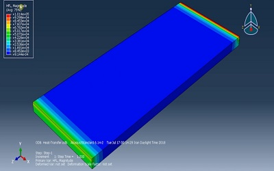 شبیه سازی فرایند انتقال حرارت سهبعدی ABAQUS