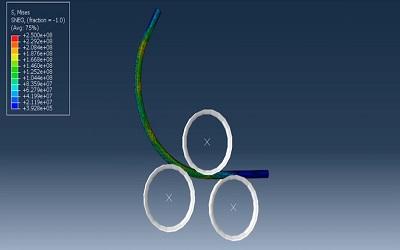 شبیهسازی فرایند خمش لوله در ABAQUS