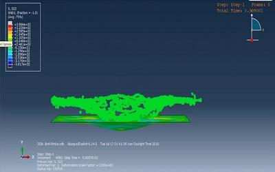 شبیهسازی برخورد پرنده با بدنه هواپیما در ABAQUS