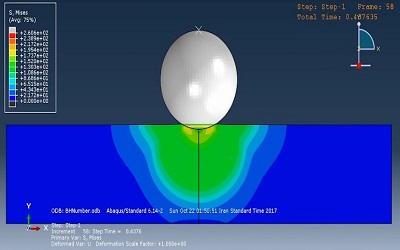 شبیه سازی تست سختی سنجی برینل در ABAQUS