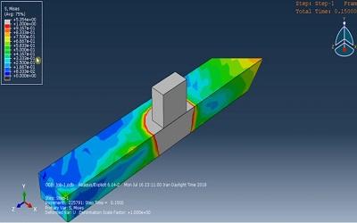 شبیهسازی فرایند ایجاد حرارت در اثر اصطکاک در ABAQUS
