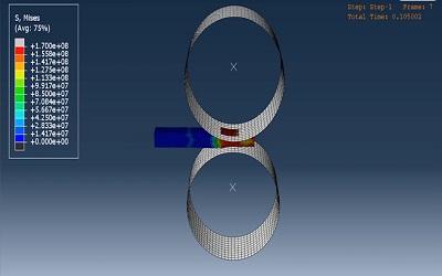 شبیهسازی فرایند نورد توسط دو غلتک در ABAQUS