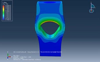 شبیهسازی و تحلیل صفحه سوراخدار تحت فشار سینوسی در ABAQUS