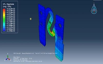 تحلیل الکتریکی حرارتی یک فیوز در ABAQUS