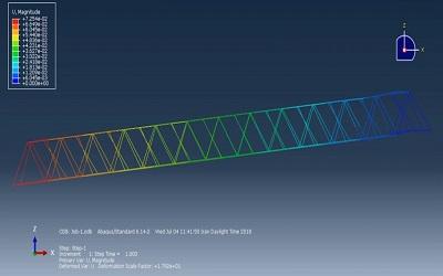 شبیهسازی جرثقیل پل در ABAQUS