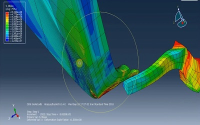 شبیهسازی برخورد گلوله به صفحه فلزی در ABAQUS