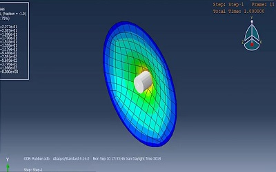 شبیهسازی تست کشش هیدروالاستیک در ABAQUS