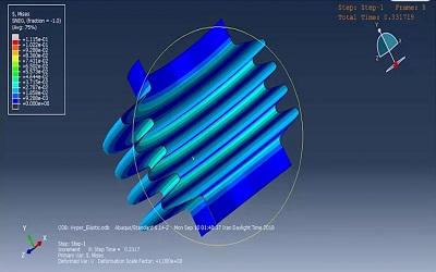 شبیهسازی فشار وارد بر مواد هایپرالاستیک در ABAQUS
